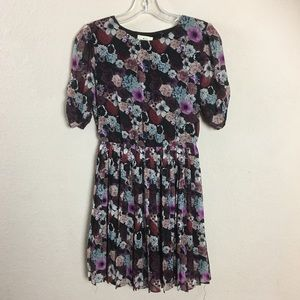 Pins and Needles Anthropologie Purple Floral Dress